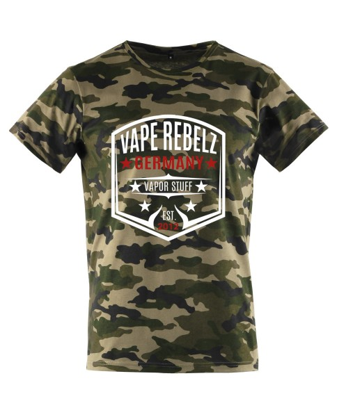 Vape Rebelz Herren T-Shirt oliv Camouflage [URBAN CLASSICS]